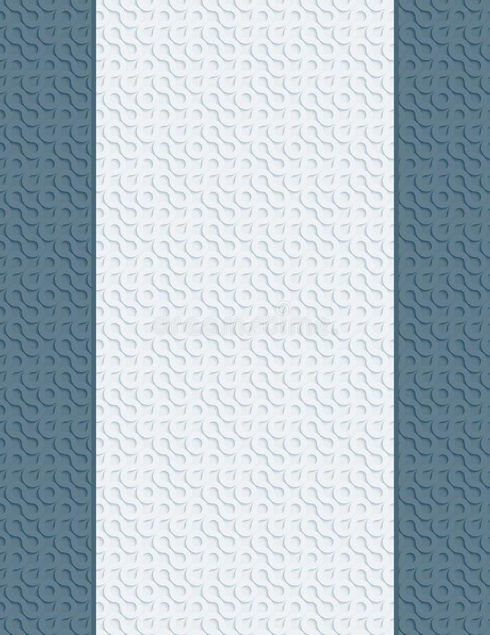 Puste miejsce listu strona z 3D teksturą ilustracji