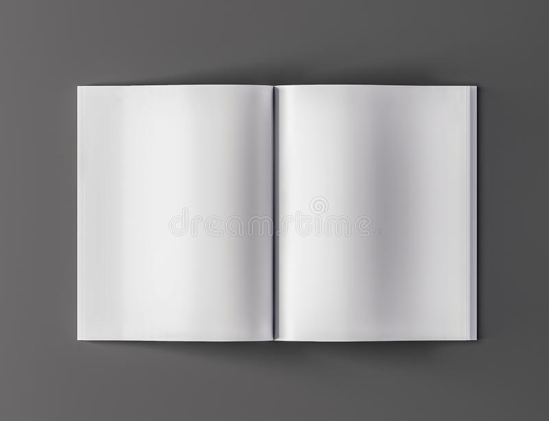 Puste miejsce magazynu otwartego szablonu odgórny widok - 3D ilustracja royalty ilustracja