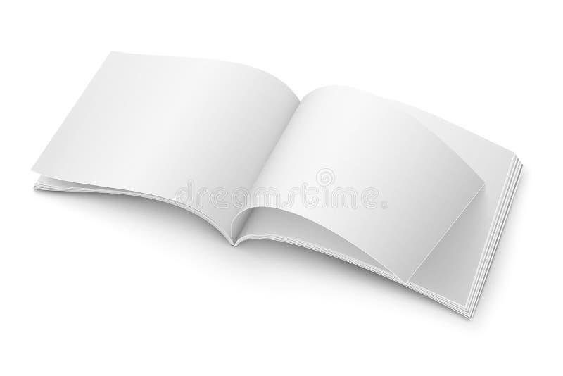 Puste miejsce magazynu otwarty szablon Szeroki format ilustracja wektor