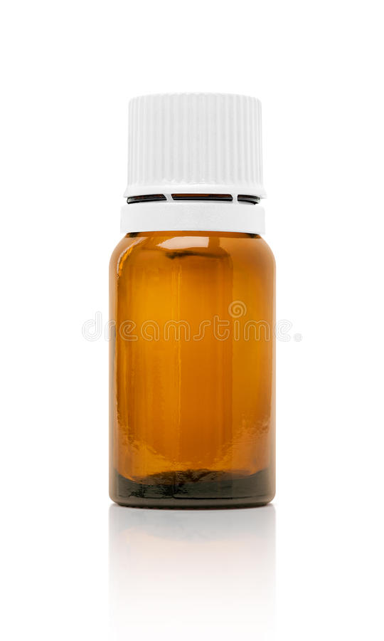 Puste miejsce pakuje kosmetyczną serum butelkę na bielu obraz stock
