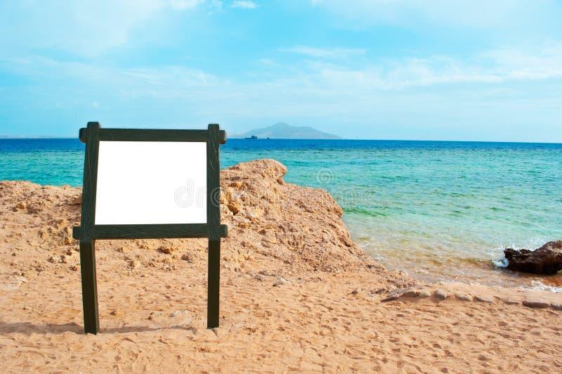 puste miejsce plażowy znak fotografia royalty free