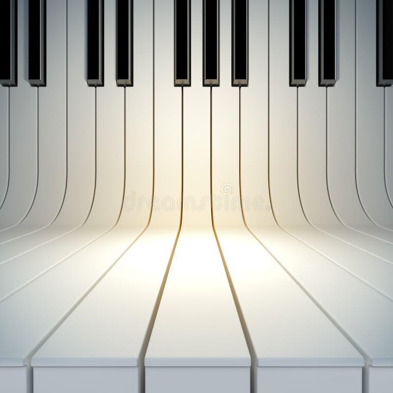 Puste miejsce powierzchnia od fortepianowych kluczy ilustracja wektor