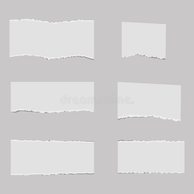 Puste miejsce rozdzierający nutowy papier z kleistą taśmą wektor royalty ilustracja