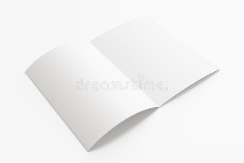 Puste miejsce rozpieczętowany magazyn odizolowywający na bielu royalty ilustracja