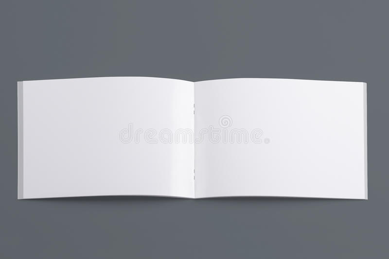 Puste miejsce rozpieczętowany magazyn odizolowywający na popielatym fotografia royalty free