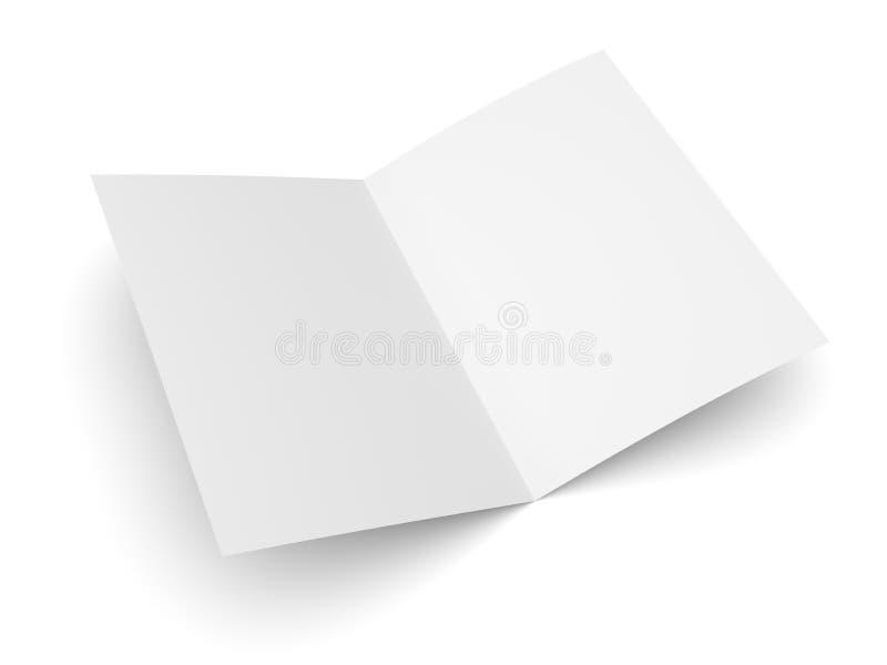 Puste miejsce składał ulotki, broszury, pocztówki, wizytówki lub broszurki, ilustracja wektor