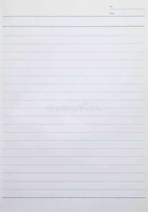 Puste miejsce wykładał prześcieradło papier od notatnika zdjęcie royalty free
