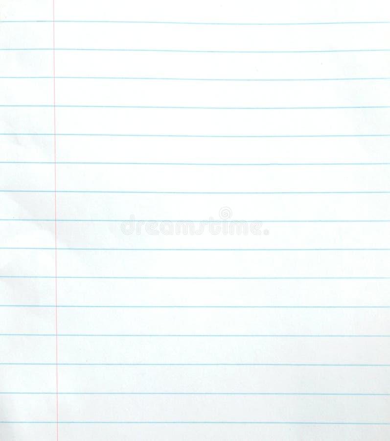 Puste miejsce wykładający notatnika papieru tło zdjęcie stock