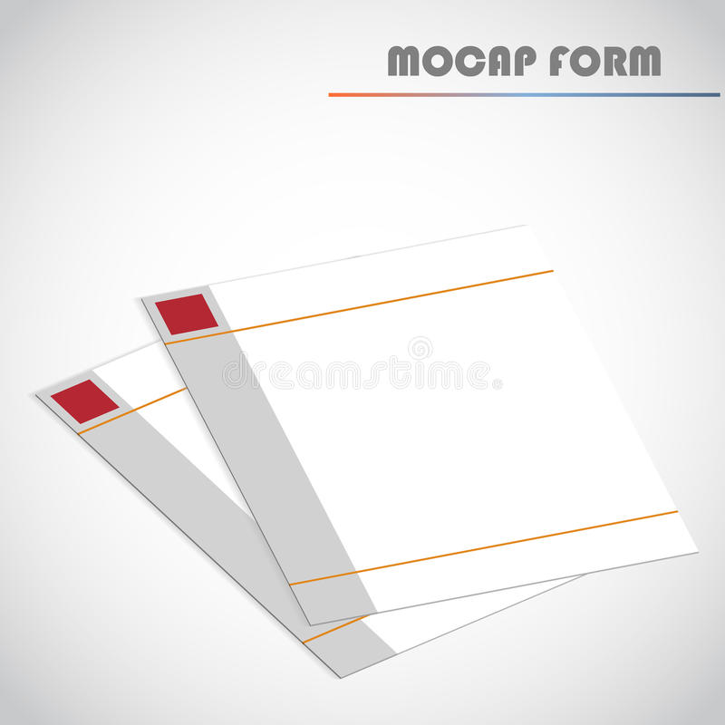 Puste miejsce wykładający papier, wektorowa ilustracja ilustracji