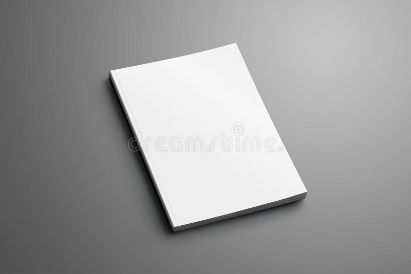 Puste miejsce zamykał A4, A5 broszurka z miękkim realistycznym cienia isola ilustracji