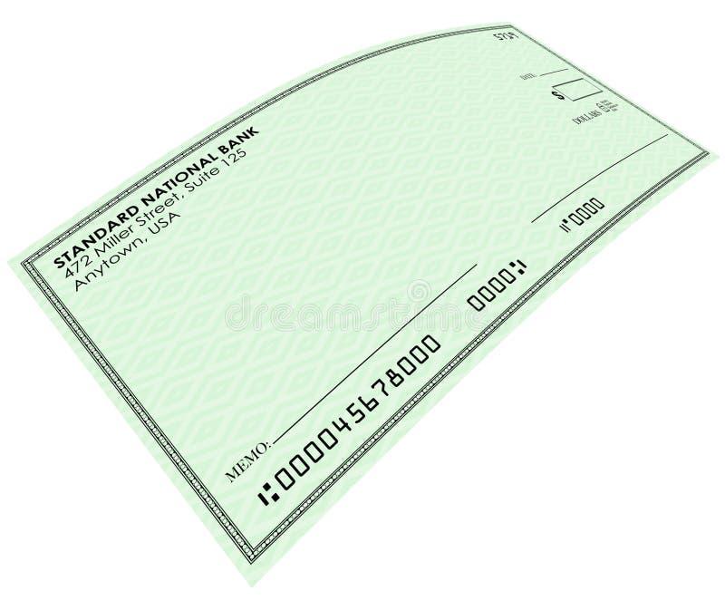 Puste miejsce zieleni czeka pieniądze zapłaty konta bankowe kopii przestrzeń ilustracja wektor