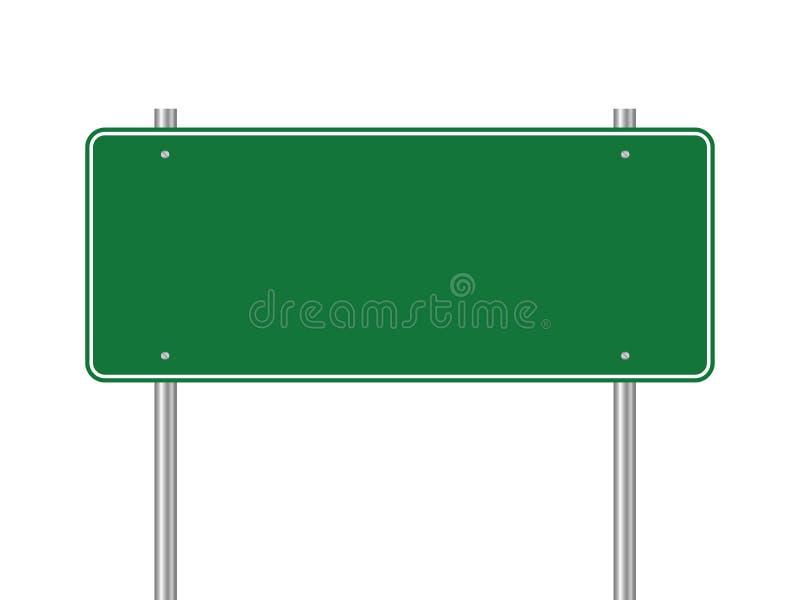 Puste miejsce zieleni ruchu drogowego drogowy znak na białym tle ilustracja wektor