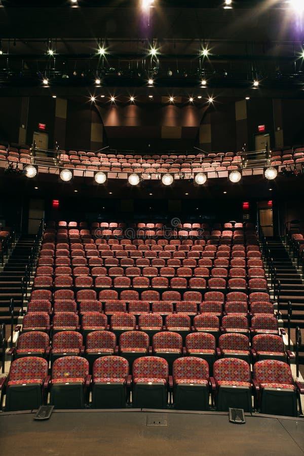 puste siedzenie teatr obrazy royalty free