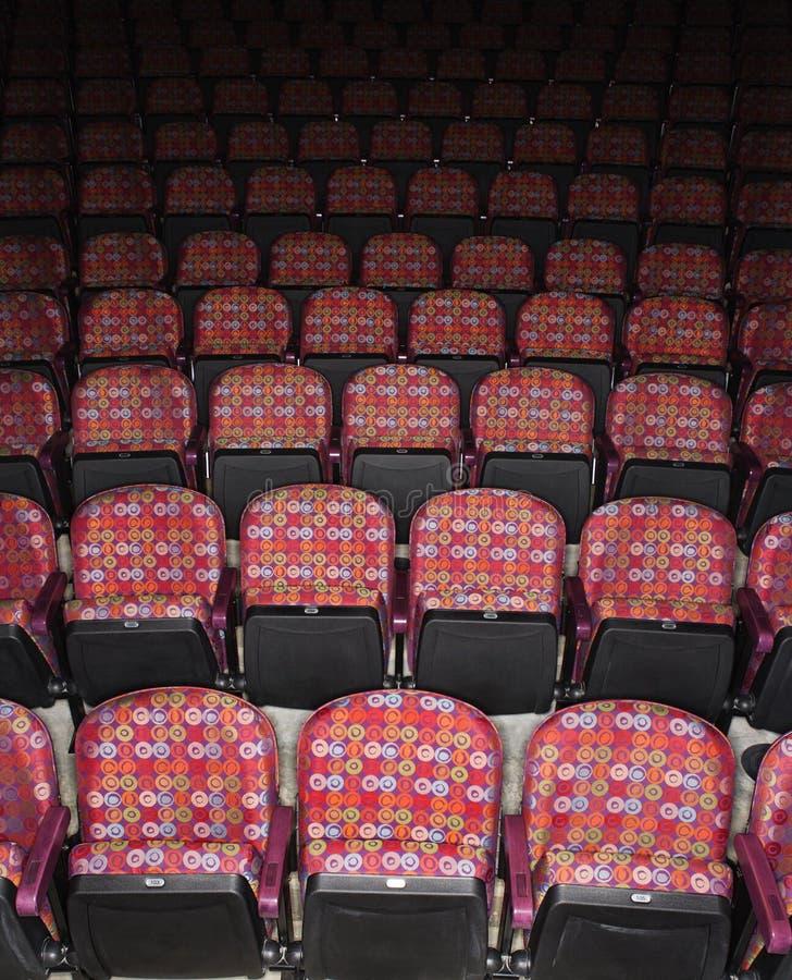 puste siedzenie teatr zdjęcia stock