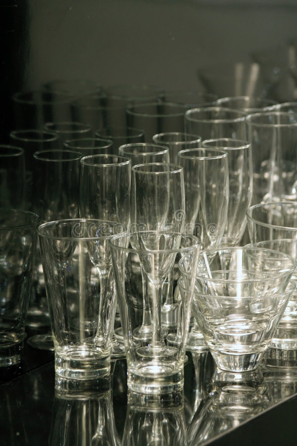 puste szklanki obrazy stock