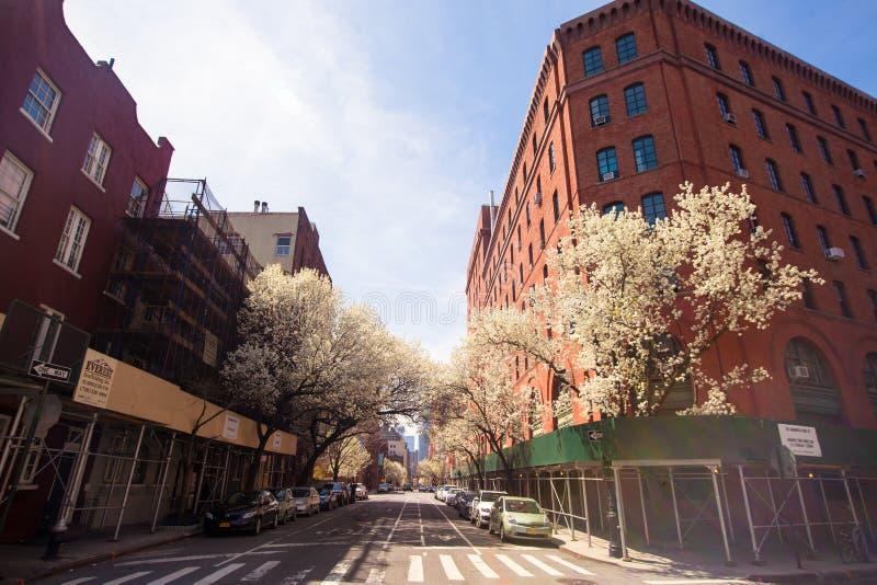 Puste ulicy w Zachodniej wiosce przy Nowy Jork fotografia royalty free