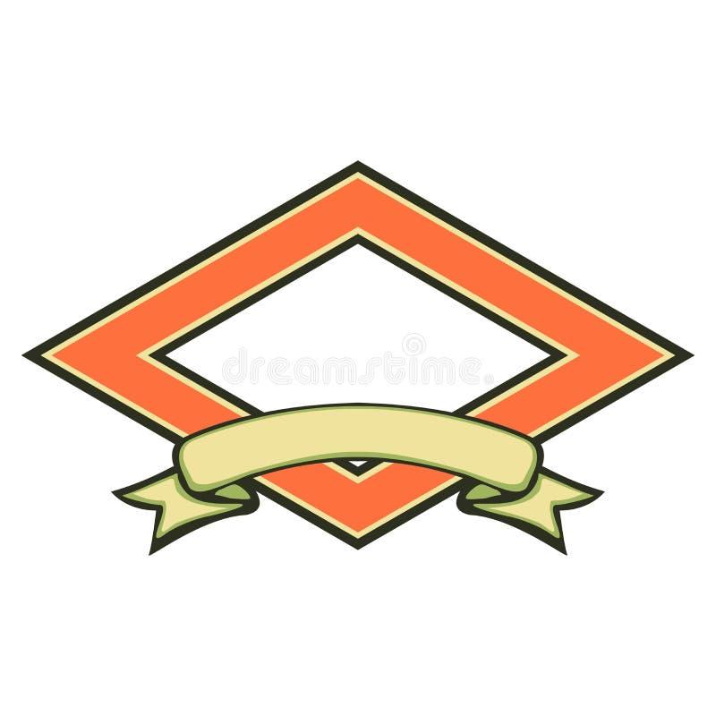 puste wstążkę logo ilustracji