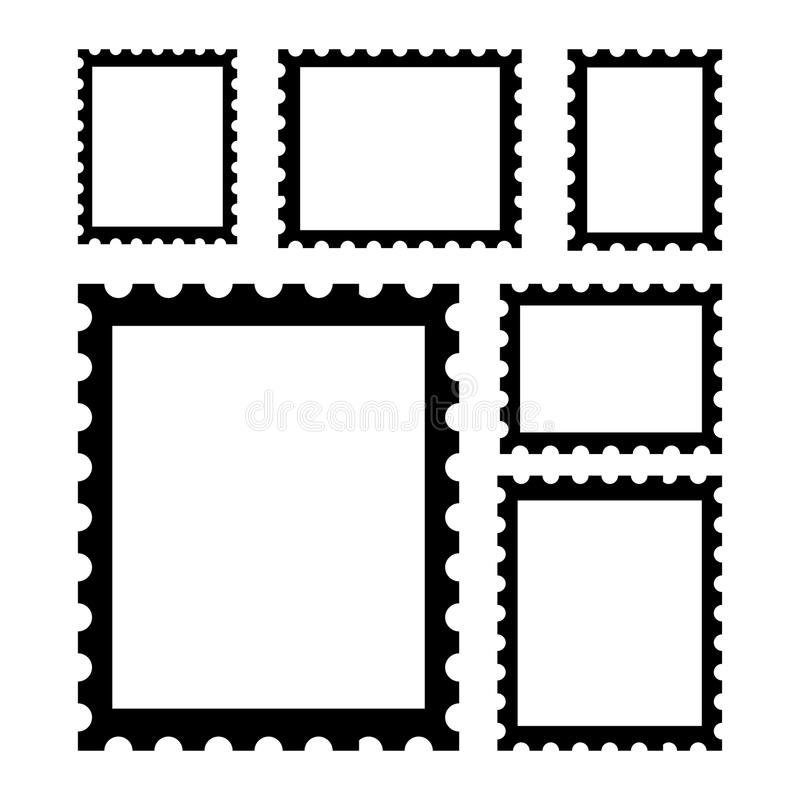 puste znaczków pocztowych royalty ilustracja
