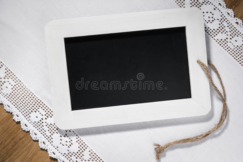 Pustego łupku blackboard fotografia stock