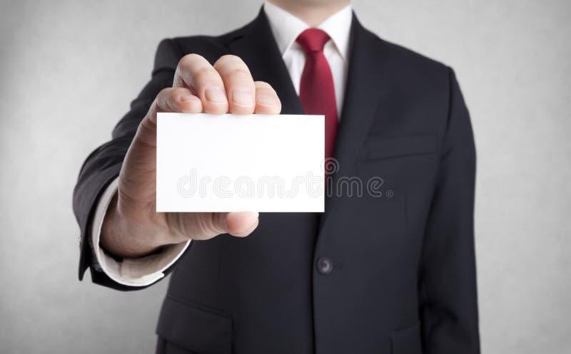 pustego biznesowego biznesmena karciany seans obrazy stock