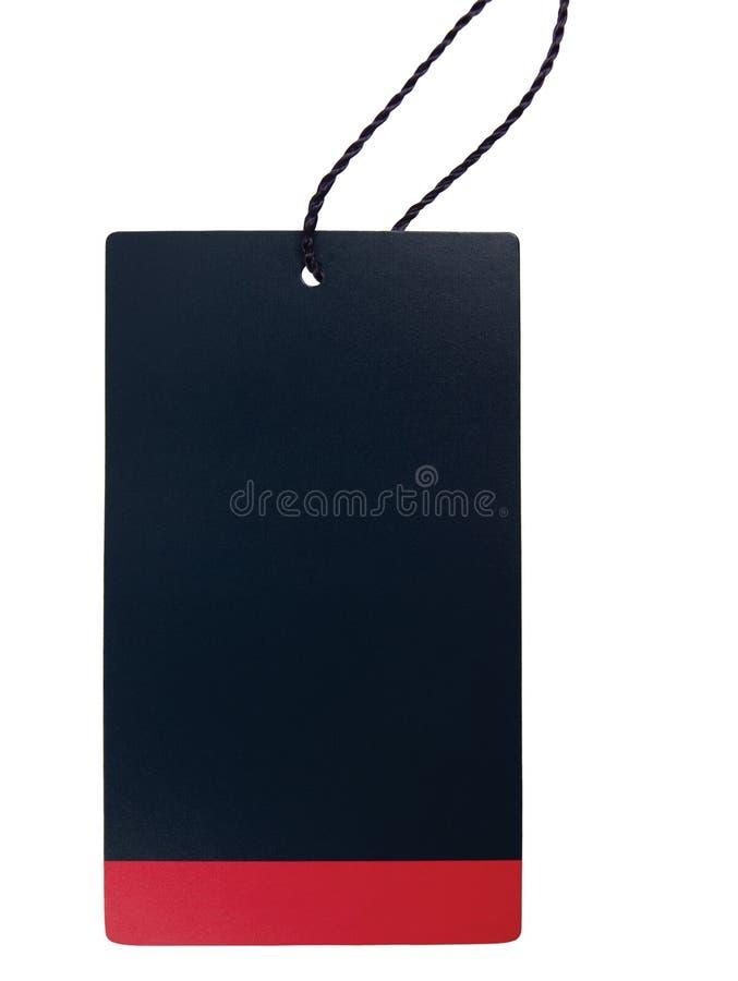 Pustego Czarnego Czerwonego Kartonowego sprzedaży etykietki pustego miejsca ceny etykietki lampasa Pusta odznaka, Odosobnionego z zdjęcie royalty free