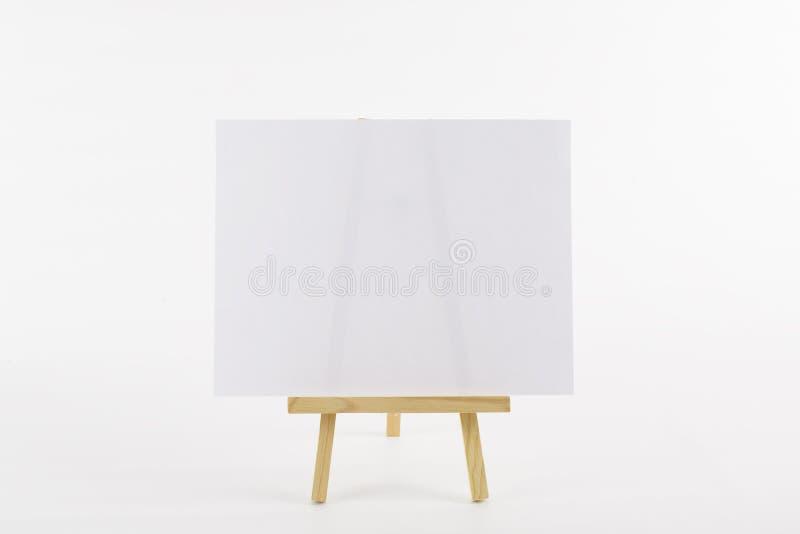 pustego easle papierowy stołowy wierzchołek zdjęcie royalty free