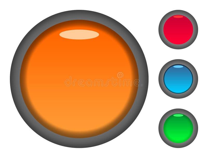 pustego guzika kolorowe ikony ilustracja wektor