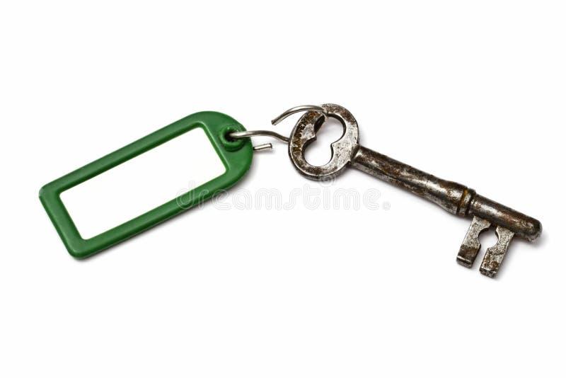 pustego klucza stara etykietka zdjęcia royalty free