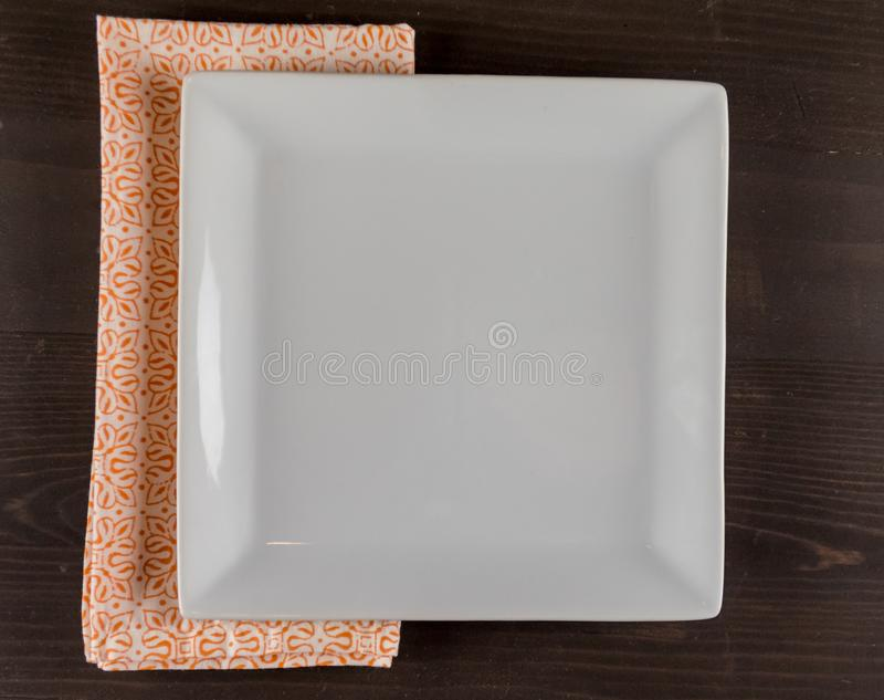 Pustego kwadrata Półkowa i Pomarańczowa pielucha obrazy royalty free