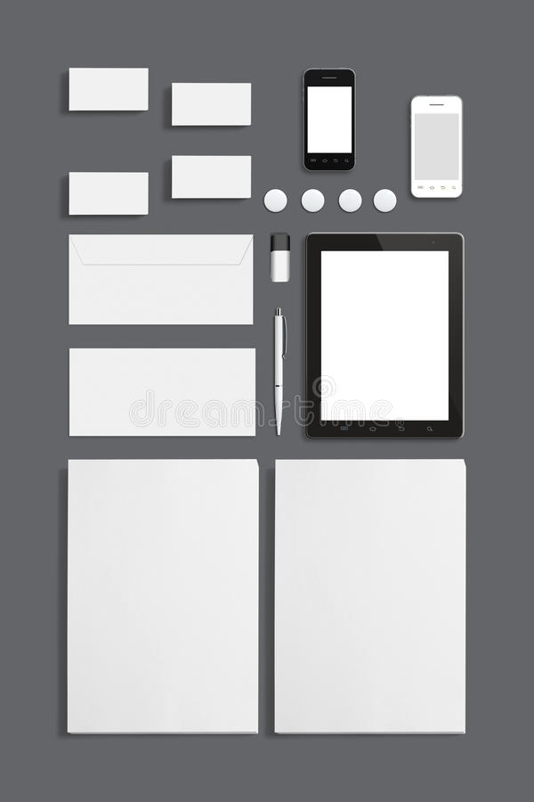 Pustego materiały ID Korporacyjny szablon ilustracji