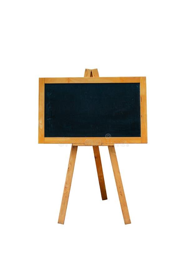 Pustego menu blackboard plenerowy pokaz odizolowywający na bielu fotografia stock