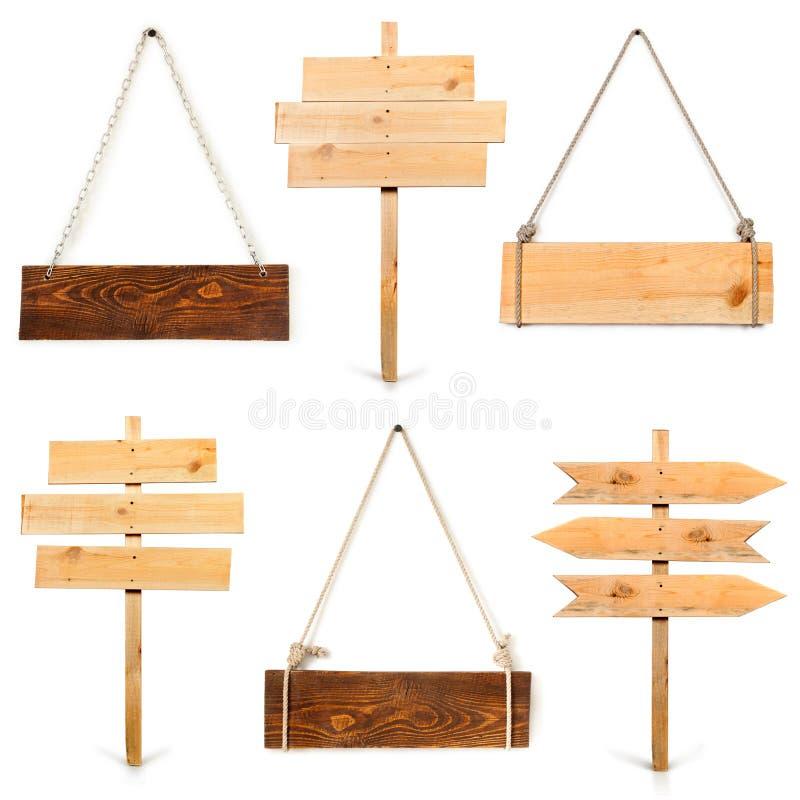 pustego miejsca desek kolekci znaka drewno zdjęcie stock