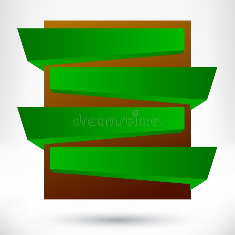Pustego miejsca origami projekta pusty element. ilustracji
