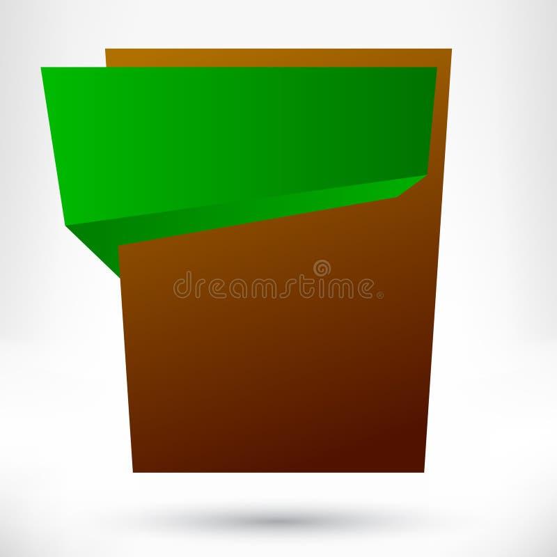 Pustego miejsca origami projekta pusty element. ilustracja wektor