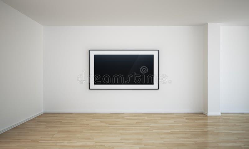 pustego miejsca pusty obrazu pokój ilustracja wektor