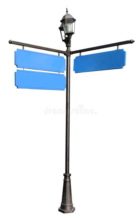 Pustego miejsca trzy błękitny kierunkowy z przestrzenią dla zwyczaju zdjęcie royalty free