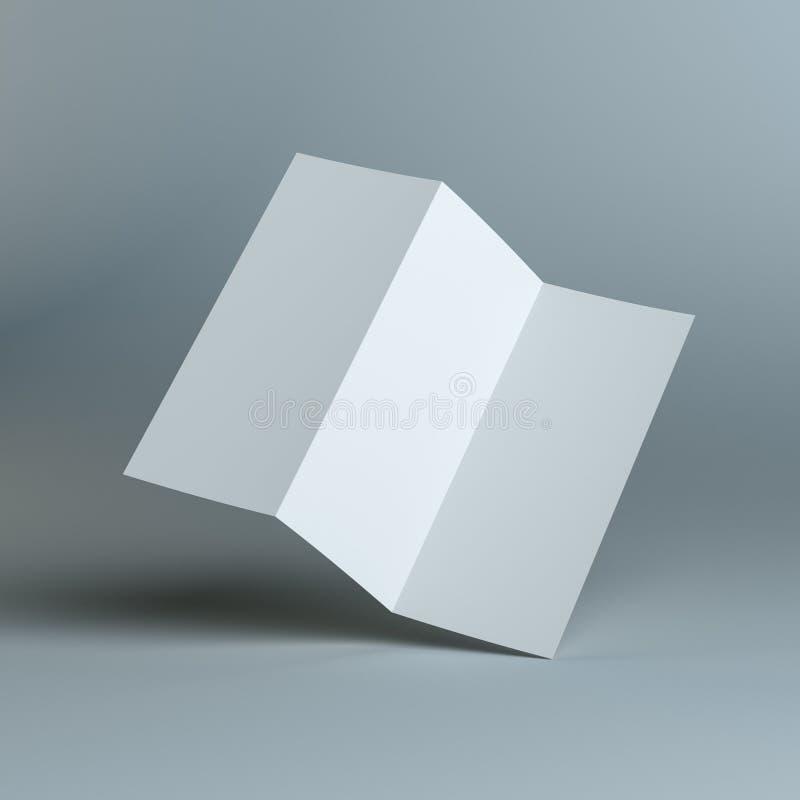 Pustego miejsca trzy fałdu szablonu papier ilustracja wektor
