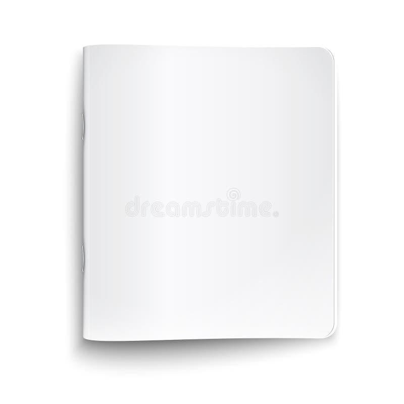 Pustego miejsca zamknięty copybook na białym tle. ilustracji