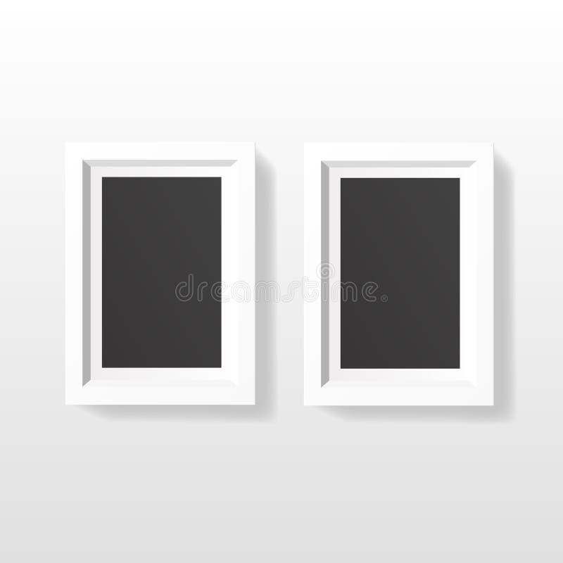 Pustego obrazek ramy szablonu ustalony obwieszenie na ścianie zdjęcie stock