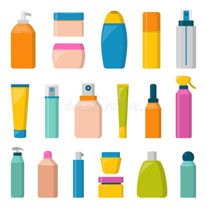 Pustego pakunku zbiornika atrapy butelki inkasowego szablonu płaska wektorowa ilustracja ilustracja wektor