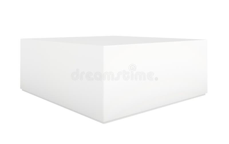 Pustego papieru lub kartonu szablonu pozycja na białym tle zdjęcia royalty free