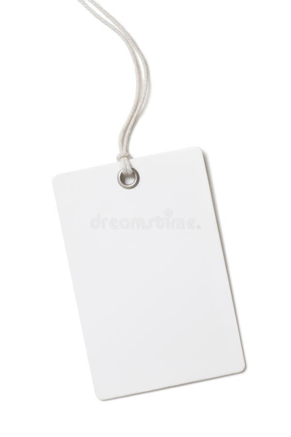 Pustego papieru metka lub etykietka odizolowywający na bielu zdjęcie royalty free