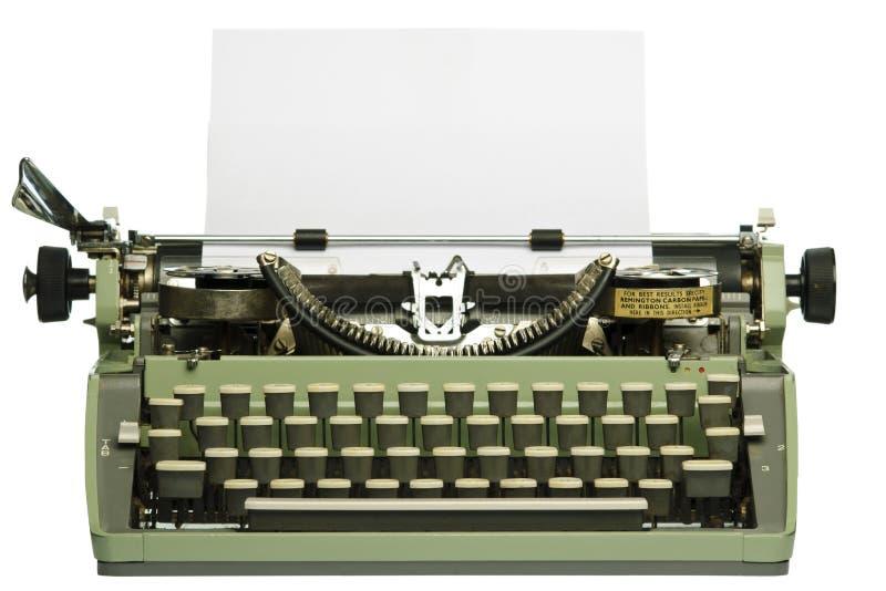 pustego papieru retro maszyna do pisania obrazy stock