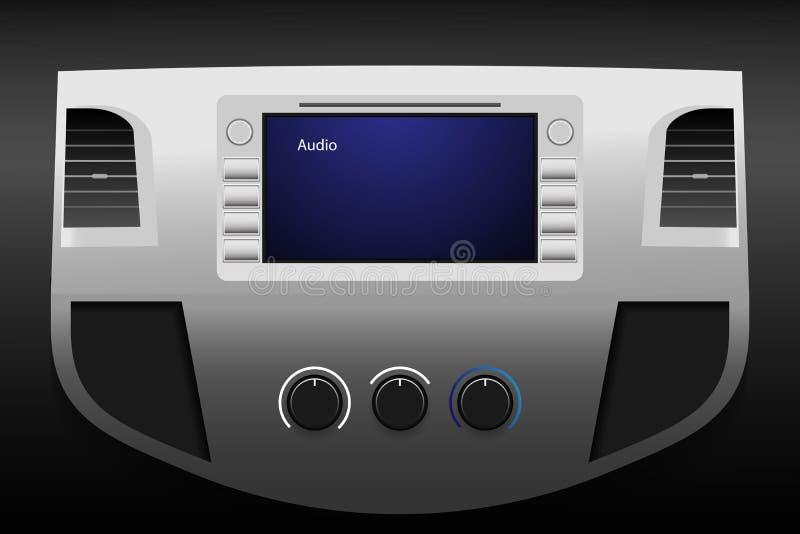 Pustego pokazu ekran w samochodzie Wektorowa ilustracja EPS10 ilustracja wektor