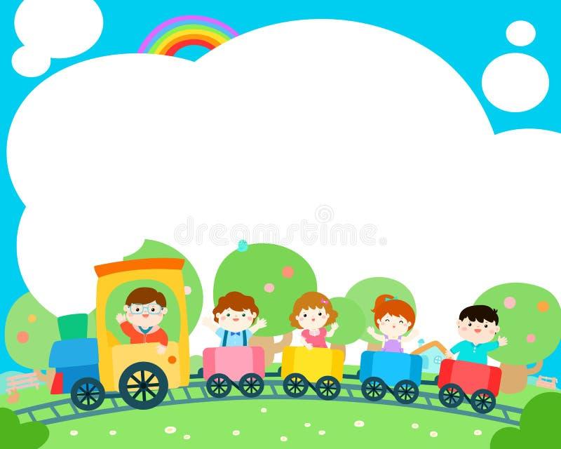 Pustego szablonu szczęśliwego dzieciaka plakatowy projekt ilustracja wektor