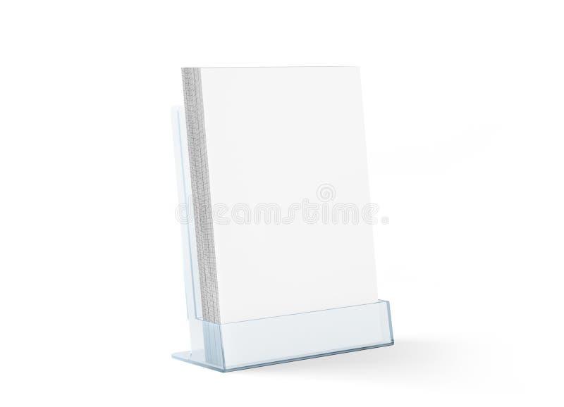 Pustego ulotki mockup szklany plastikowy przejrzysty właściciel zdjęcia royalty free