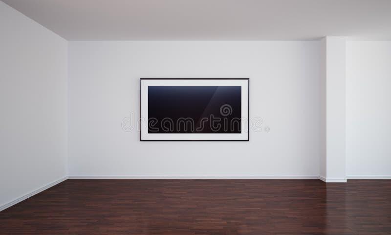 pustego zmroku pusty podłogowy obrazu pokój royalty ilustracja