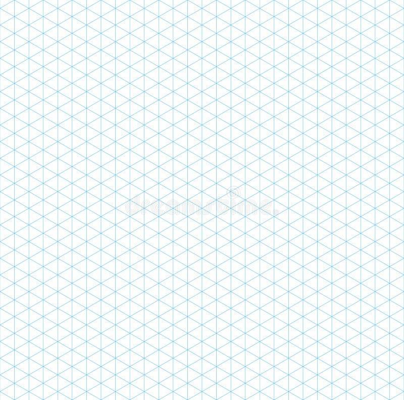 Pustej isometric siatki bezszwowy wzór ilustracja wektor