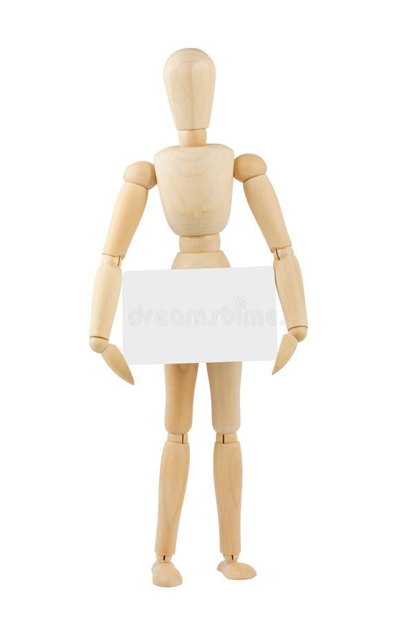 pustej karty mannequin drewniany zdjęcie royalty free