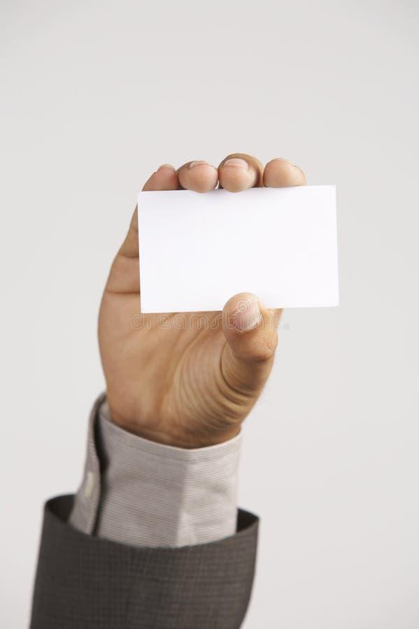 pustej karty mienia mężczyzna fotografia stock